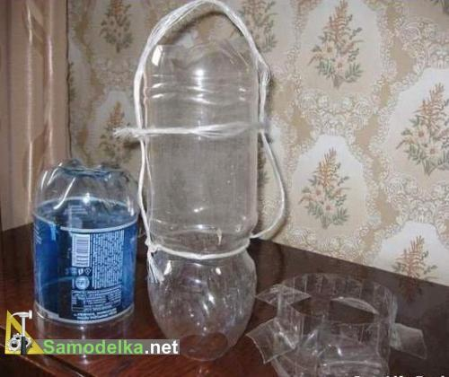 детали кормушки из пластиковых бутылок