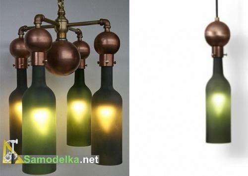 лампу из пустых бутылок