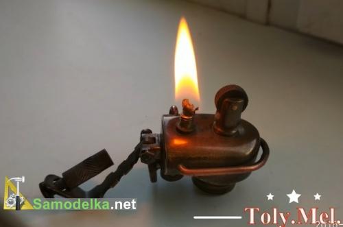 Зажигалка бензиновая из старого смесителя