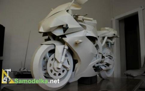 мотоциклы из картона - фотоподборка