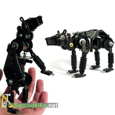 робот медведь из деталей электроники
