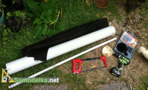 инструмент для изготовления вертикальной грядки для клубники