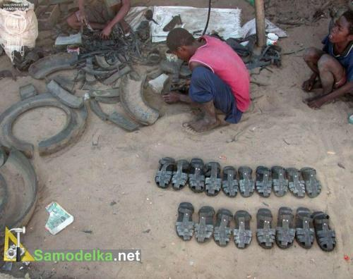 сандали из покрышек