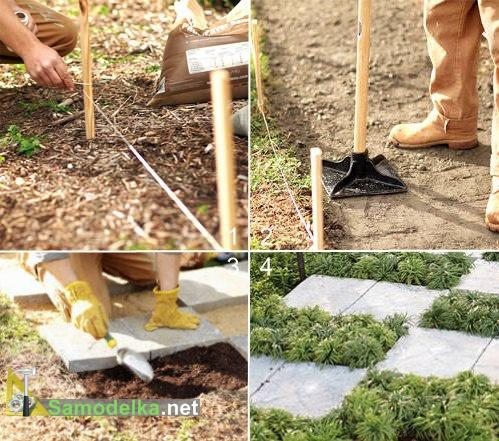 Садовые дорожки своими руками: простые и экономные способы 84