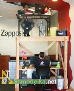 двухэтажное компютерное место