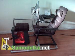 самодельное кресло для постоянной работы на копьютере
