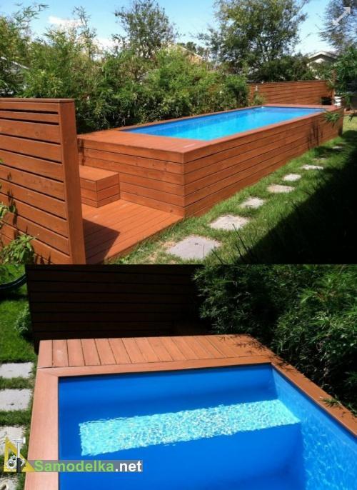 дачный самодельный бассейн