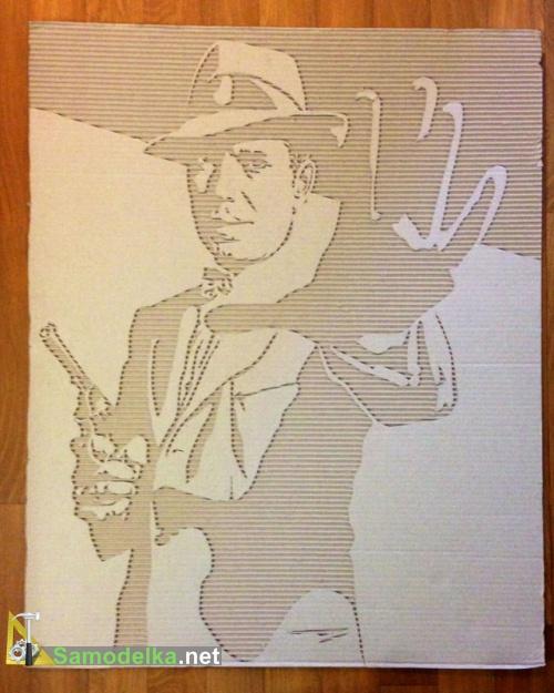 Картины из картона своими руками Хамфри Богард