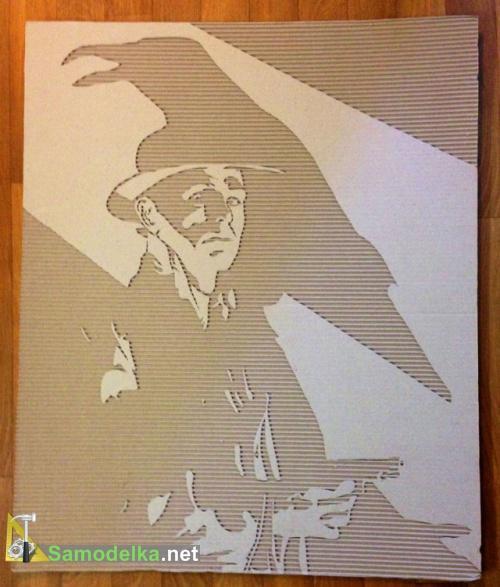 картины из картона своими руками - пистолет на прокат