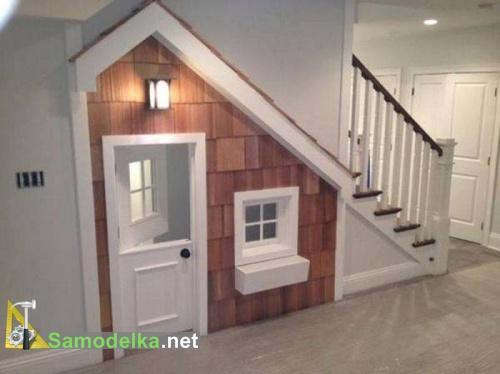 домик шкаф под лестницей