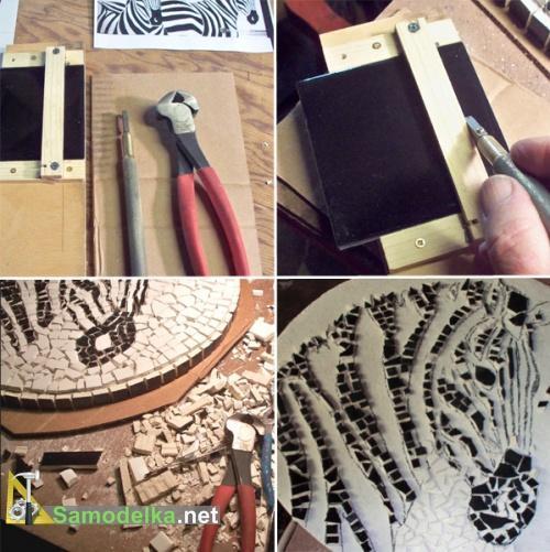 столешница из мозаики своими руками подготовка плитки