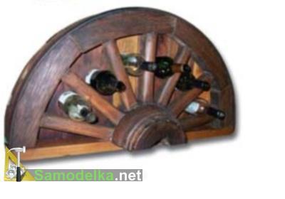 домашний мини бар своими руками из половинок колеса