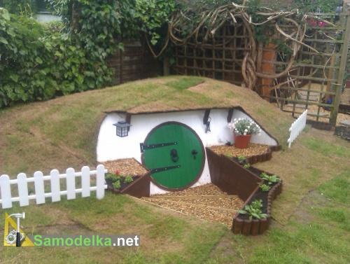 Как построить домик хоббита своими руками - готовый дом