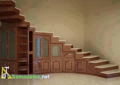 мебельный гарнитур под лестницей