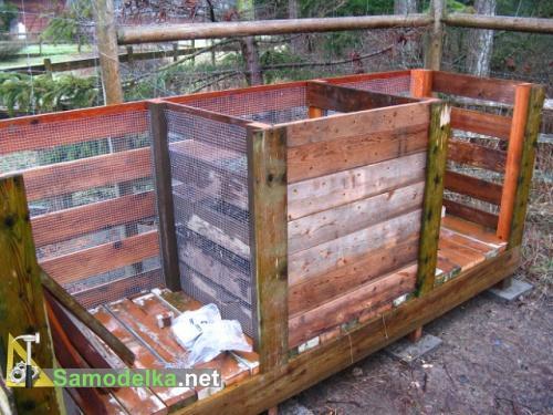 как правильно сделать компостную кучу передняя стенка и сетка