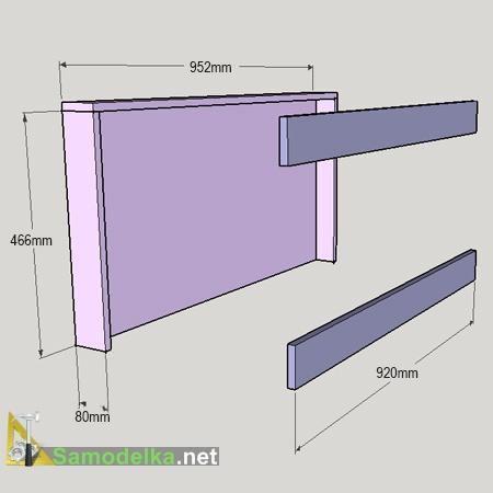 монтаж верхней и нижней опоры спинки