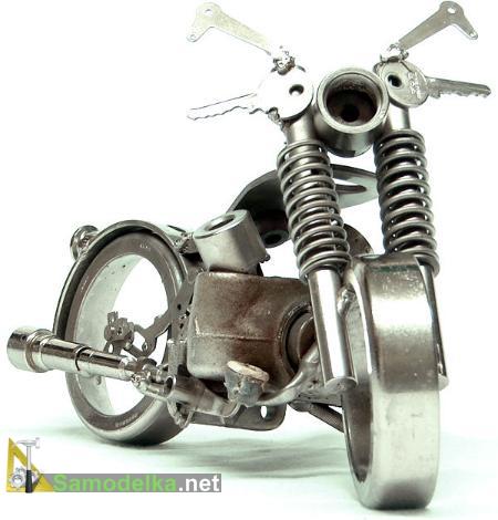 как сделать мотоциклы из металлолома