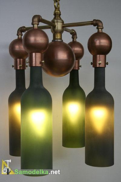 самодельная люстра из бутылок