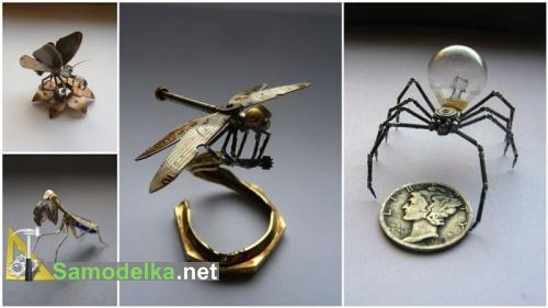 стимпанк насекомые из часов