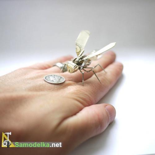 Стимпанк насекомые из часовых деталей