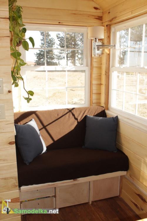 раскладной диван в доме на колесах своими руками
