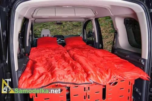 кровать в раскладной кемпинге