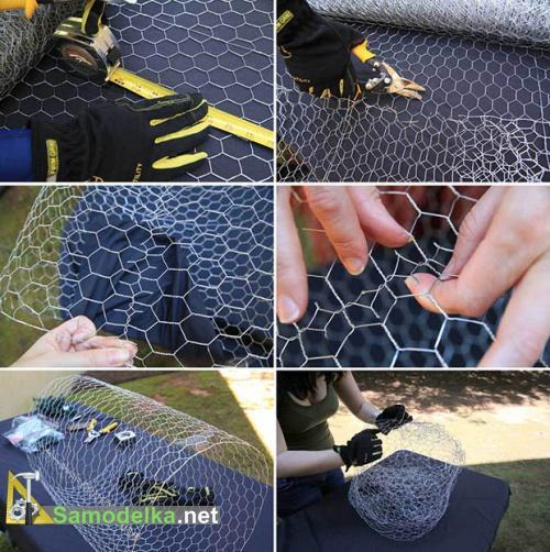 Делаем основу шаров из сетки