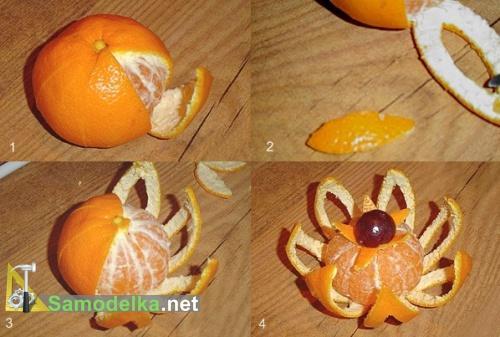 как сделать карвинг по апельсину