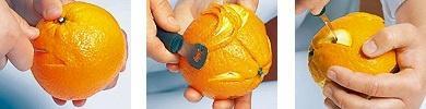 как сделать рожицы из апельсины