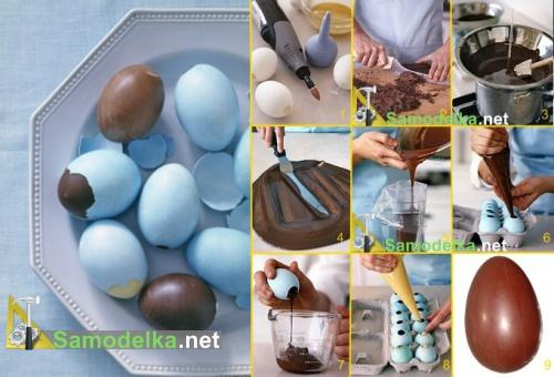 Как самостоятельно сделать шоколадное яйцо.