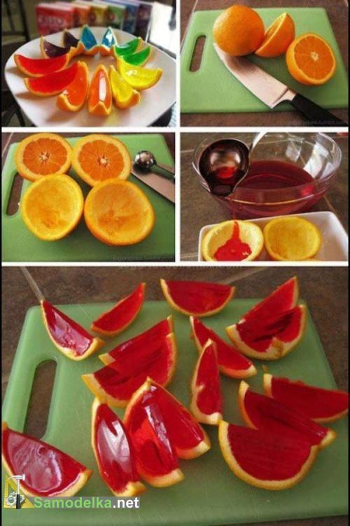 желе в апельсиновых корках