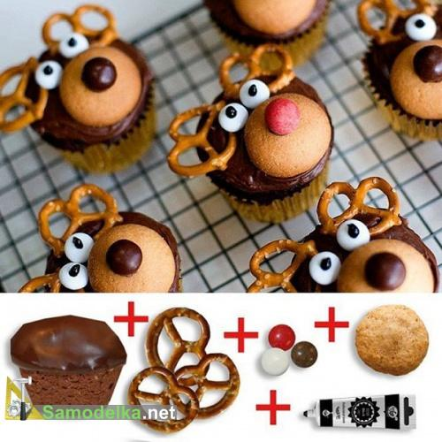как украсить кексы для детей