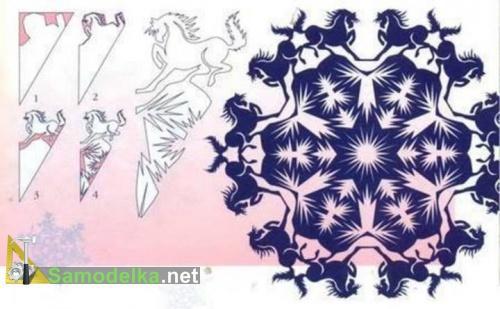 снежинки балеринки с конями