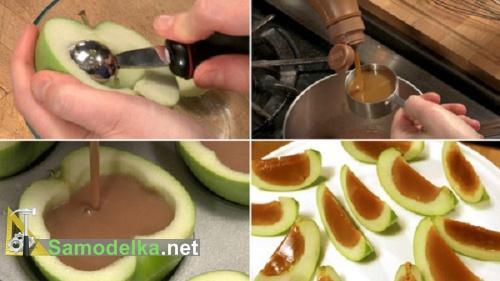 как сделать карамель в яблоках