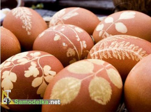 рисунок на пасхальных яйцах