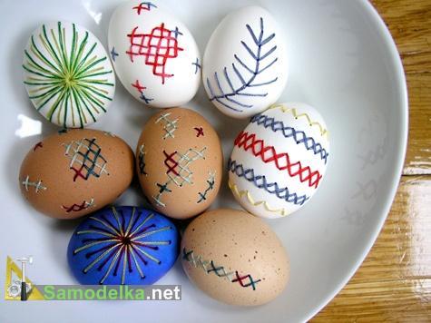вышивка на яйцах результат