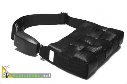 самодельная сумочка из ремней безопасности от автомобиля