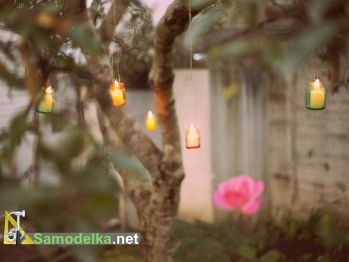 поделки из баночек из под детского питания - мини фонари для сада