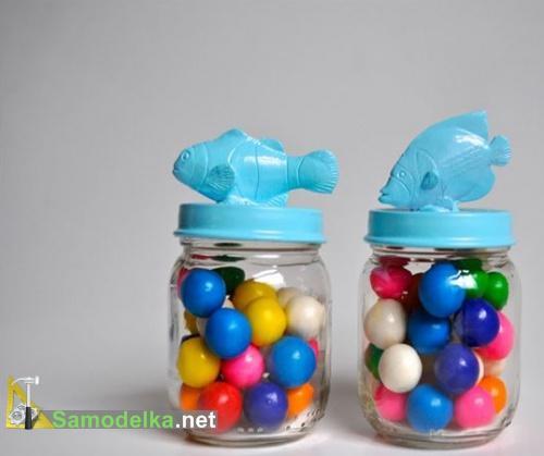поделки из баночек из под детского питания - сувенирная банка для конфет