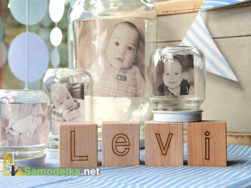 поделки из баночек из под детского питания - стеклянные рамки для фото