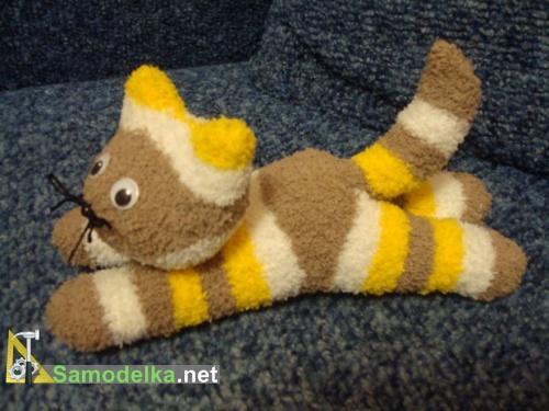 кошка из носков своими руками