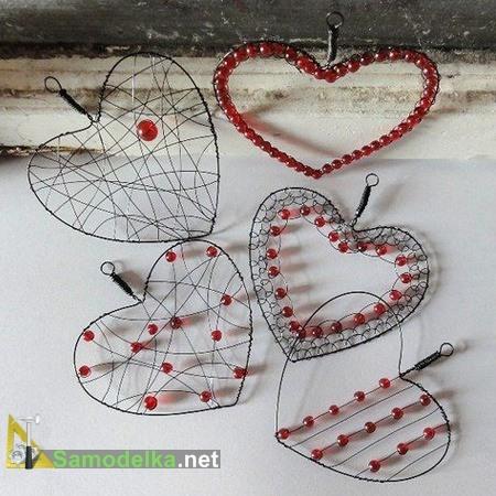 сердечки сплетенные из металла