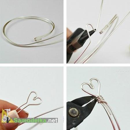 как сделать браслет из проволоки