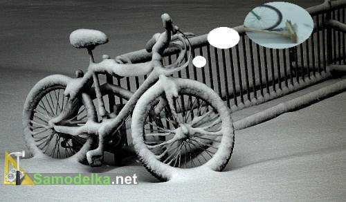 самодельный внегоуборщик из велосипеда