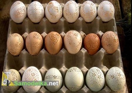 резные яйца