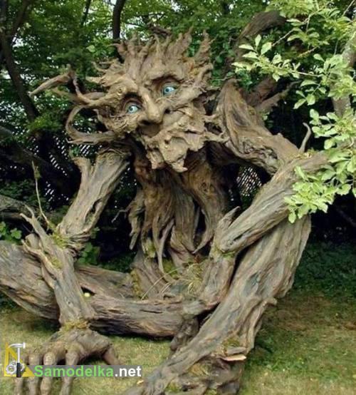 дерево тролль из папье-маше