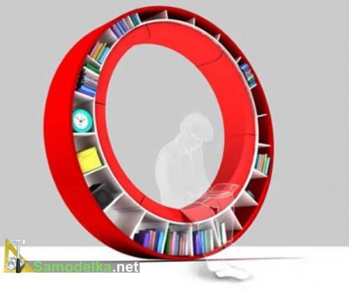 Необычные полки на стену фото кольцо с книгами