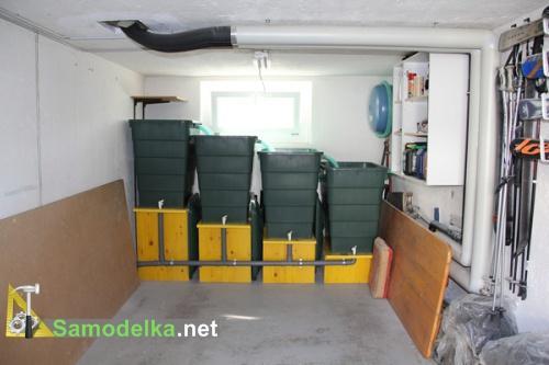Дачный пруд своими руками - система фильтрации в гараже
