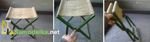 складного рыбацкий стульчик из металла
