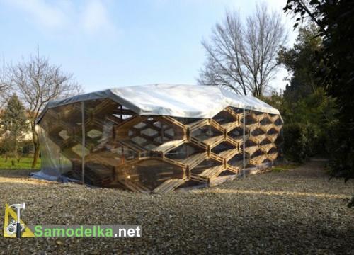 Самодельный павильон из деревянных поддонов